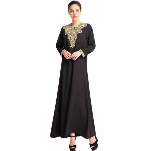 Embroidered Long Sleeve Kaftan