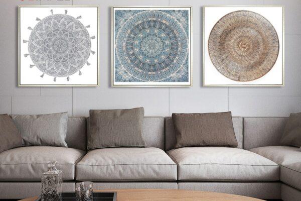Silver Moroccan Dish Wall Painting