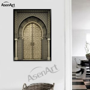 Moroccan Gate Canvas Poster
