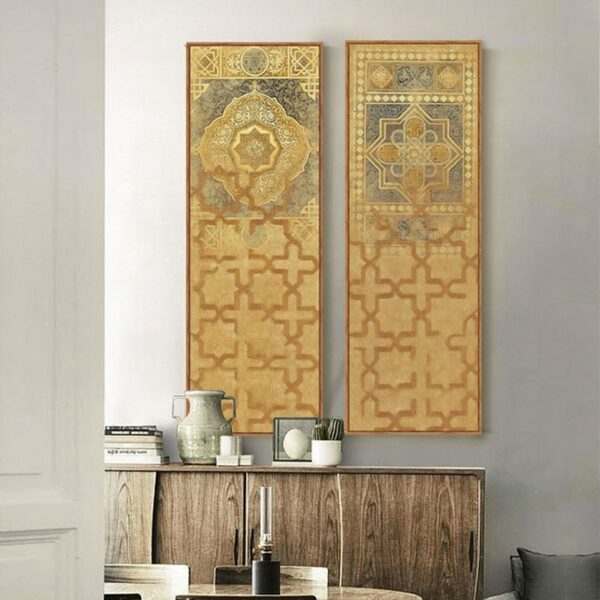 Moroccan style Long canvas painting