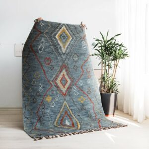 wool cotton Kilim Carpet geometric Bohemia Indian grey Rug plaid Morocco striped Modern contemporary design Iran Nordic style
